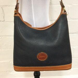 Dooney & Bourke Bags - Dooney & Bourke Classic Vintage Shoulder Bag Navy